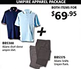Adams Umpire Apparel Package (Call 1-800-327-0074 to order)