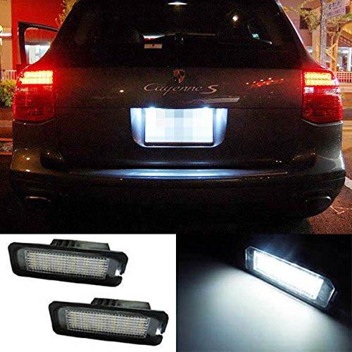 Ijdmtoy 18-Smd Error Free Led License Plate Lights For Volkswagen Golf Gti Cc Rabbit Eos Beetle Phaeton Porsche Cayman Carrera Cayenne Boxster
