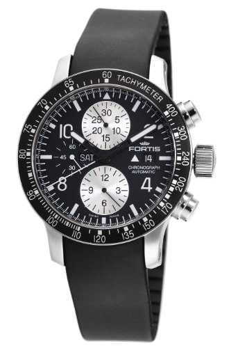 Fortis Men's 665.10.11K B-42 Stratoliner Automatic Chronograph Black Dial Watch
