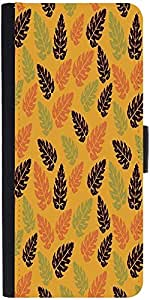 Snoogg Seamless Leaf Pattern Designer Protective Flip Case Cover For Xiaomi Mi 4