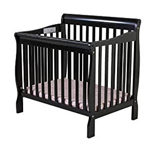 Dream On Me 3 in 1 Aden Convertible Mini Crib, Black from Dream On Me