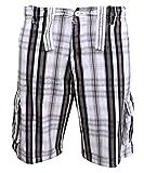 Soul Star Twill 311 - Pantaloni cargo a quadri uomo - marrone / bianco - Small / US 28-30