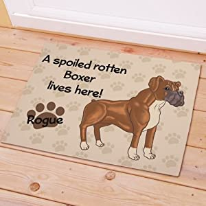 Personalized Let The Spoiling Begin Doormats Personalized Boxer Spoiled