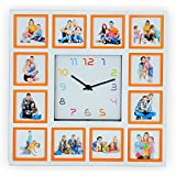 "FAITH ""12 Photo Collage Photo Clock"" (Collage Photo Clock, 18 Inch X 18 Inch)"