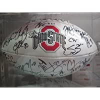 2012 Ohio State Buckeyes Signed Autographed Full Size Football Matching Holograms Authentic Certified Coa Urban Meyer , Braxton Miller Many More