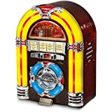 Crosley CR1101A-CH Jukebox with CD Player and LED Lighting (Cherry)