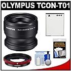 Olympus TCON-T01 Tele Converter Lens for Tough TG-1, TG-2 & TG-3 iHS Waterproof Digital Camera with CLA-T01 Conversion Lens Adapter + Li-90B Battery + Kit