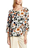 Tom Tailor Denim Blusa (Beige / Negro / Naranja)