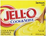 Jell-O Cook and Serve Pudding and Pie Filling, Lemon, 4.3-Ounce Boxes (Pack of 6)