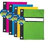 BAZIC Bright Color 3-Ring Pencil Pouch, Multi Color (802-24)