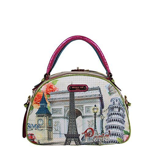 nicole-lee-nicole-lee-europe-print-bowler-shoulder-bag-europe-one-size