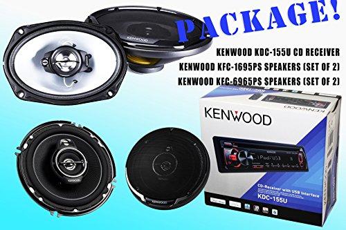 Package! Kenwood Kdc-115U Cd-Receiver + Kfc-1695Ps Speakers + Kfc-6965Ps Speakers