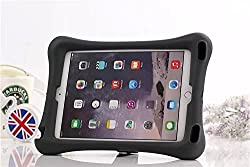 EastchinaÃ'® | Apple Ipad Air 2 High Safe Kids Shocproof Case | Apple Ipad Air 2 High Safe Child / Shock Proof Cover | Apple Ipad Air 2 Polycarbonate Kick-stand Cases | High Quality Material Designed for Ipad Air 2 (6th Generation) (Black)
