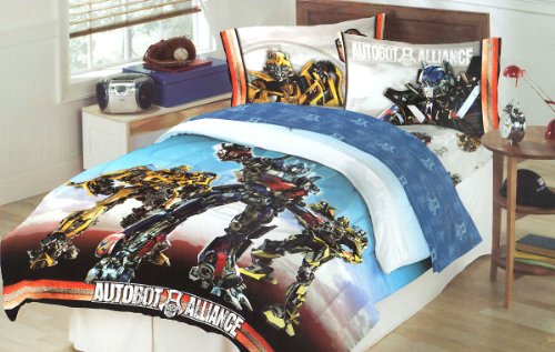 Transformers Battle Continues Twin Bedding Comforter front-636093