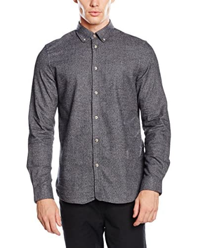 Ben Sherman Camicia Uomo Ls Twisted Plain  [Antracite]