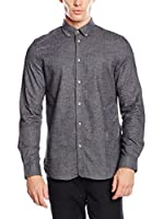 Ben Sherman Camisa Hombre Ls Twisted Plain (Antracita)