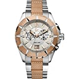 Gc Sport Class Chronograph Steel and Rose Gold Men's Sports Watch