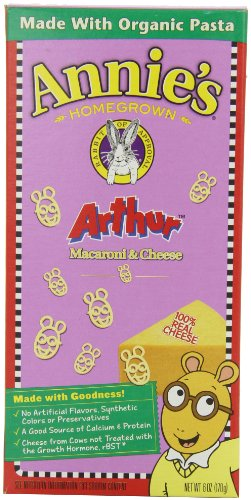 Annie'S Homegrown Totally Natural Arthur Macaroni & Cheese, 6-Ounce Boxes (Pack Of 12)