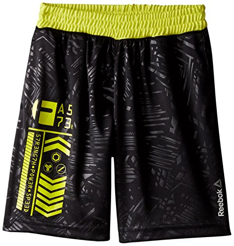 Reebok Little Boys' Strength Short, Black, 6