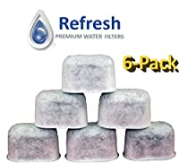 6-Pack KEURIG Universal Fit Charcoal Water Filter Replacement - for Keurig 2.0 and Older Coffee Machines