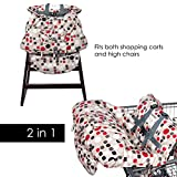 Shopping Cart Cover and High Chair Cover for Baby, FREE Pacifier Clip