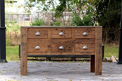 Large Reclaimed Wood Apothecary Chest 60