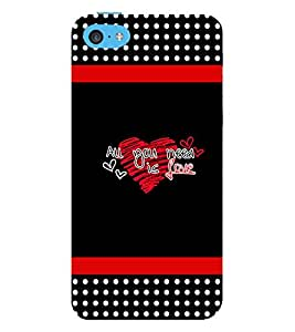 Vizagbeats all you need is love Back Case Cover for Apple iPhone 5C