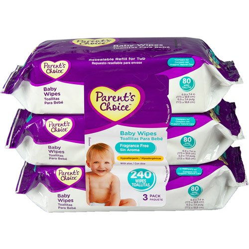 Parent\'S Choice Fragrance Free Baby Wipes, 80 Sh