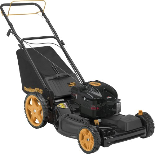 Poulan Pro PR625Y22RHP 22-inch 625 Series Briggs & Stratton Gas Powered Side Discharge/Bag/Mulch Front Wheel Drive Self-Propelled Lawn Mower With High Rear Wheels