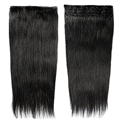"16""-22"" 3/4 Full Head One Piece Clip in Human Hair Extensions Black/Brown/Blonde/Red Remy Hairpiece USPS Ship"