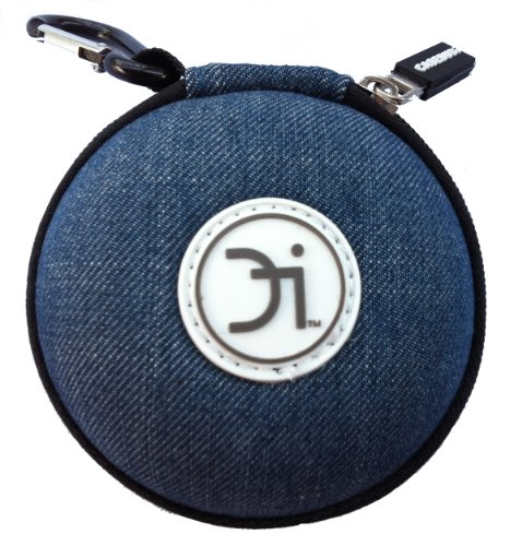 Casebudi Blue Jeans - Small Case For Your Earbuds, Ipod Shuffle, Ipod Nano, Iphone Charger, Coins, Or Small Bluetooth Headset