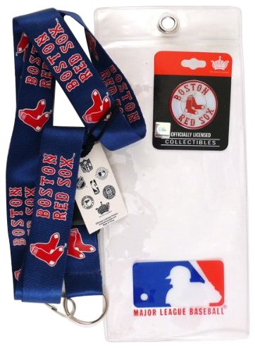 Boston Red Sox Lanyard with Ticket Holder and Logo Pin at Amazon.com