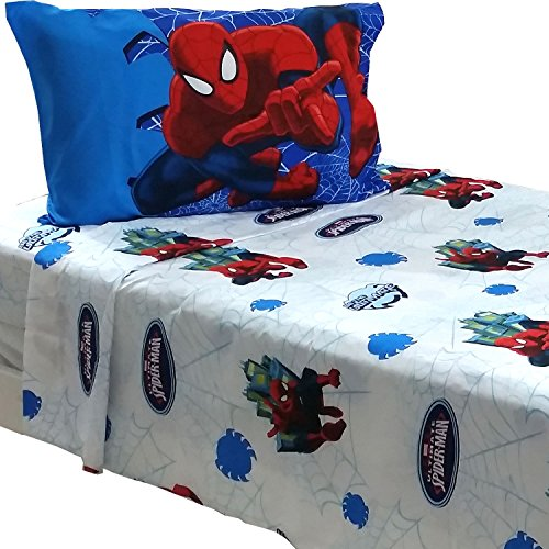 3pc Marvel Spiderman Twin Bed Sheet Set Superhero Astonish Bedding Accessories