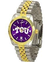 Texas Christian Horned Frogs TCU NCAA Mens 23Kt Executive Watch