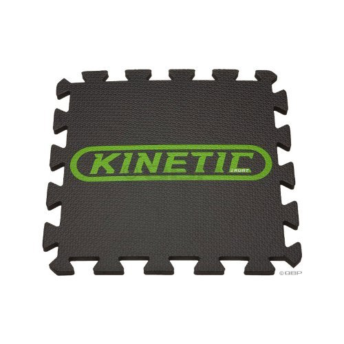 Kinetic Interlocking Trainer Mat 12 Squares Black