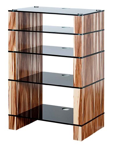 Cheap BLOK STAX DeLuxe 500 Five Shelf Satin Walnut Hifi Audio Stand & AV TV Furniture Rack Unit (B008AHJ8K8)