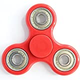 #5: Fidget Spinner Tri-Spinner Shakes Toy Plastic EDC Sensory Fidget Spinner For Autism And Children With ADHD / Adult Funny Anti Stress Toys (Red)
