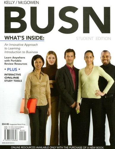 BUSN Introduction to Business by Kelly and Williams 8th Edition 4LTR Press