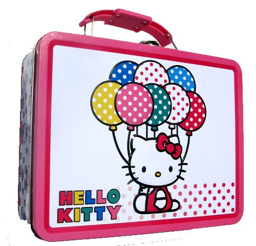 Hello Kitty Balloons Metal Girls Tin Lunch Box - 1