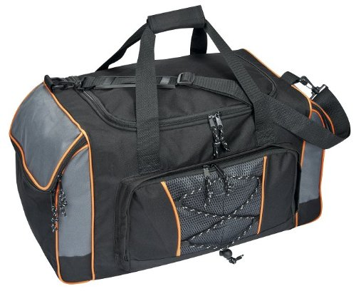 Reisetasche Sporttasche schwarz-grau-orange ca.