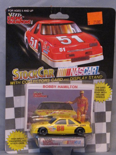 Bobby Hamilton Stock Car with Collectors Card and Display Stand 1992 Edition - 1