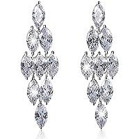 Via Mazzini Silver Swarovski Elements Platinum Plated Brass Dangle & Drop Earring For Women & Girls