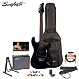 Sawtooth ST-ES-BKB-KIT-3 Black Electric Guitar with Black Pickguard – Includes Accessories, Amp, Gig Bag and Online Lesson