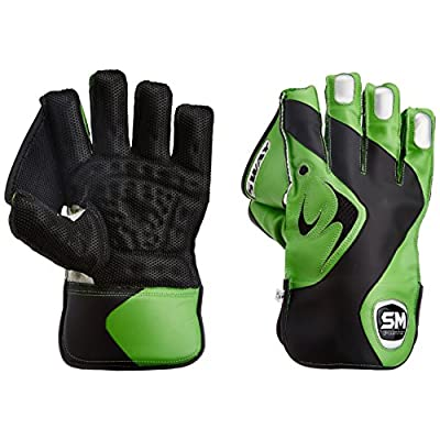 SM Sway Wicket Keeping Gloves, Men's  (Green/Black)