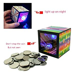 Polade Funny Flash Magic Money Box Piggy Bank Coin Disappear Children Trick Toy