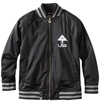LRG - Kids Boys 8-20 Core Track Jacket, Black, Medium