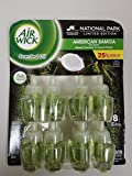 Air Wick Scented Oil Air Freshener, National Park Collection, 8 Refills, 0.67 fl oz Each (American Samoa)