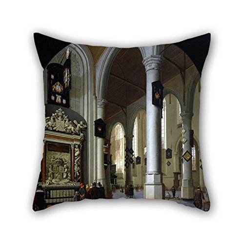 Slimmingpiggy Oil Painting Hendrik Van Vliet - Old Church In Delft With The Tomb Of Admiral Tromp Pillow Shams 20 X 20 Inches / 50 By 50 Cm Best Choice For Kids Girls,coffee House,seat,couch,adults (Marvel Magic Mystery Oil compare prices)