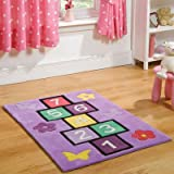 Flair Rugs Kiddy Play Hopscotch Childrens Rug, Multi, 110 x 160 Cm