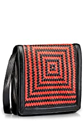 Phive Rivers Womens Sling Bag Black & Red-PR571